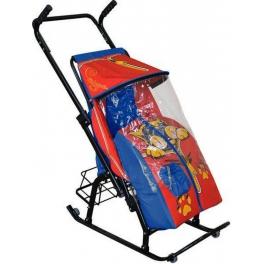 Санки-коляска Скользяшки Снегурочка 42-Р Котенок